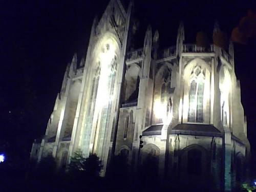 The gorgeous Heinz Chapel all lit up